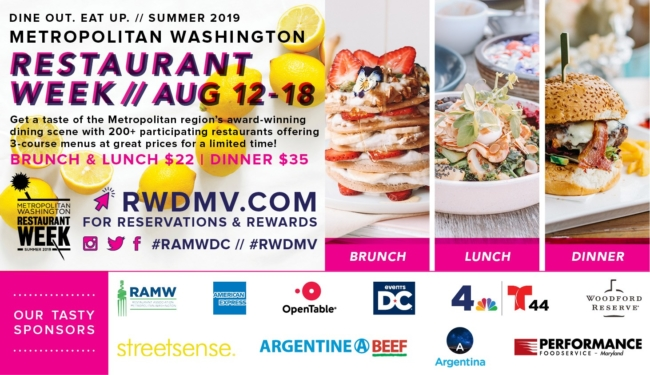 Metropolitan Washington Restaurant Week @ Various Locations in the DMV
